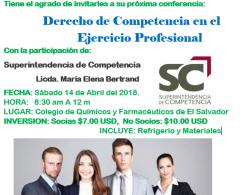 DERECHO DE COMPETENCIA EN EL EJERCICIO PROFESIONAL