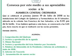 Invitación Asamblea General Ordinaria
