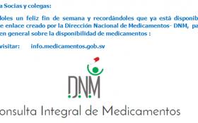 Nuevo enlace DNM para consulta de Medicamentos