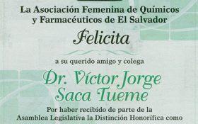 Felicidades al Dr  Víctor Saca Tueme