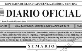 Diario Oficial, Marzo 2010