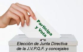 Elección de Junta Directiva de la J.V.P.Q.F. y concejales