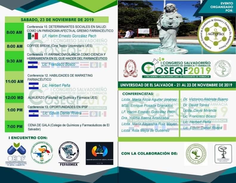 1er Congreso COSEQF 2019 – Atenta invitación