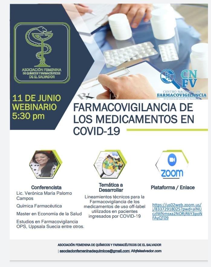 """Videoconferencia: """"Farmacovigilancia Medicamentos COVID-19″"""
